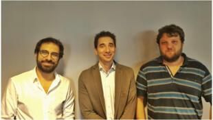 Nabil Wakim, Gaël Hurlimann et Jean Abiatecci, invités de l'Atelier des médias.