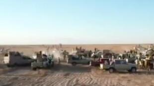 叙利亚边境上的装甲车 2017年11月23日