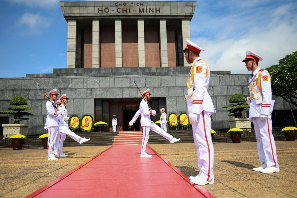 Lăng Hồ Chí Minh tại Hà Nội được canh gác ngày lẫn đêm. Ảnh chụp ngày 28/08/2019.