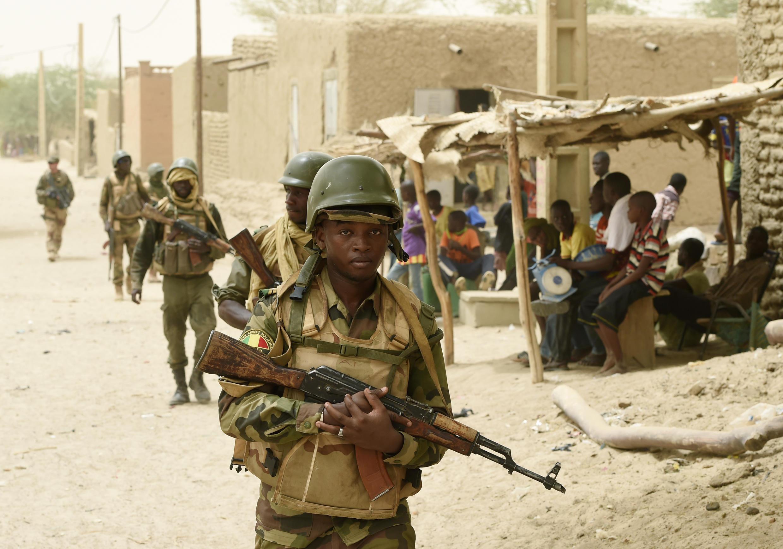 L'armée malienne à Goundam, près de Tombouctou, désormais déployée face aux jihadistes. (Photo d'illustration)