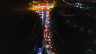 Một xa lộ ở Vũ Hán, Trung Quốc, ngày dỡ bỏ phong toả, 08/04/2020.