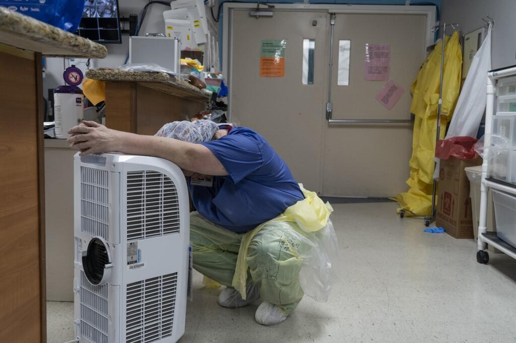 Personnel médical au United Memorial Medical Center, de Houston, Texas, le 30 juin.