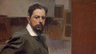 Sorolla, autoportrait (détail), 1904, huile sur toile, 66 x 100,5 cm - Madrid, Museo Sorolla, 687.