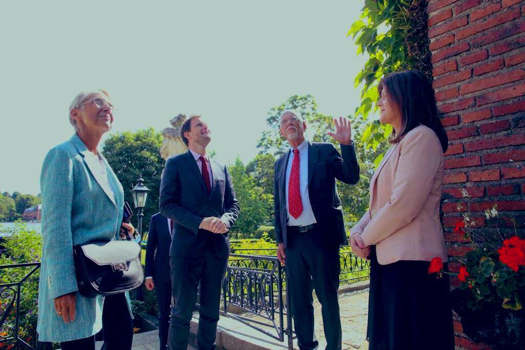 法国欧洲事务国务秘书克莱蒙-波恩和劳工部长伊丽莎白-伯尔尼与瑞典,丹麦同行会面。