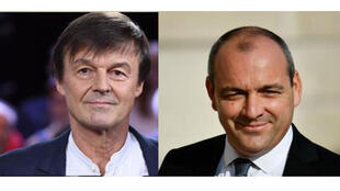 Nicolas Hulot (G) -Laurent Berger (D)