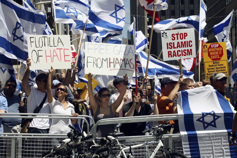 Biểu tình ủng hộ Palestin tại Toronto, Canada, ngày 05/06/2010