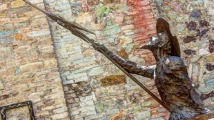 Estatua que representa a Don Quijote en Guanajuato, México.