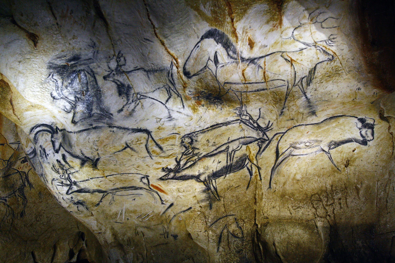 La Caverne du Pont d'Arc - une partie du panneau des chevaux.