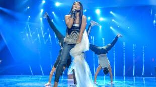 This year, singer Anggun is representing France