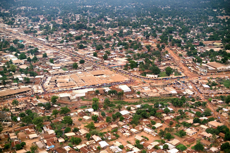 Vue aérienne de Bangui, en RCA.