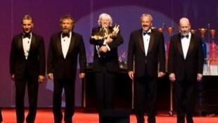 Final del recital de Les Luthiers 'Los Premios Mastropiero'.