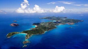 Saint Barthélémy aux Antilles.