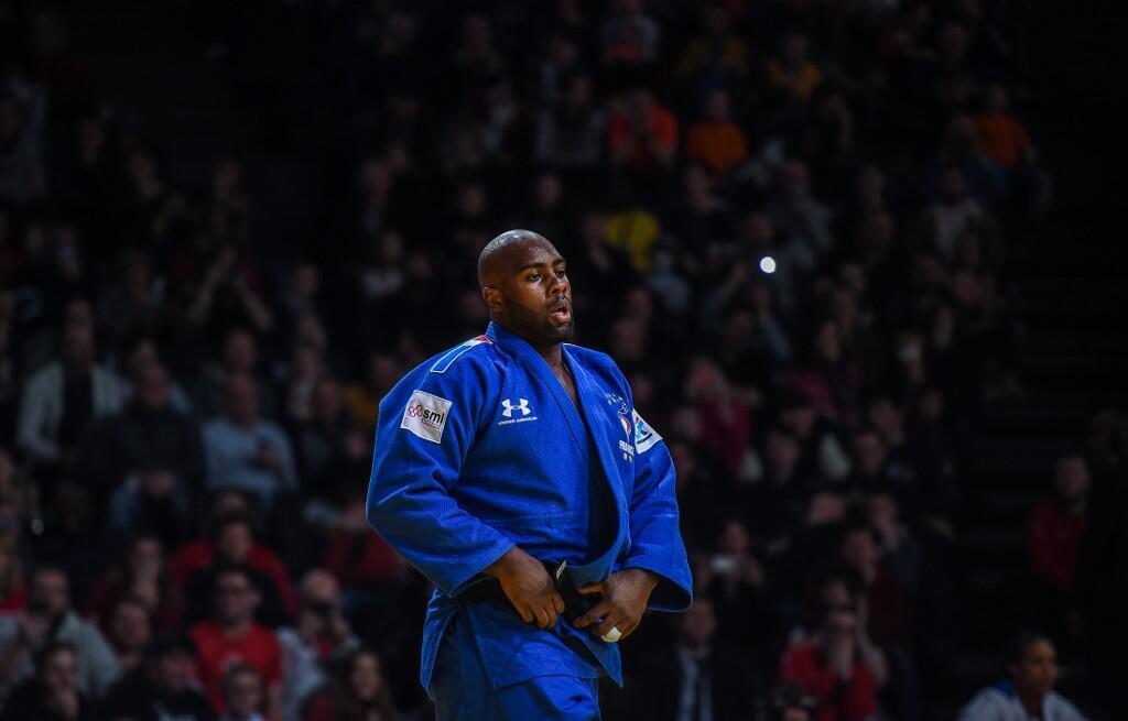 O judoca francês Teddy Riner após sua derrota para o japonês Kokoro Kageura em Paris, neste domingo 9 de fevereiro de 2020.
