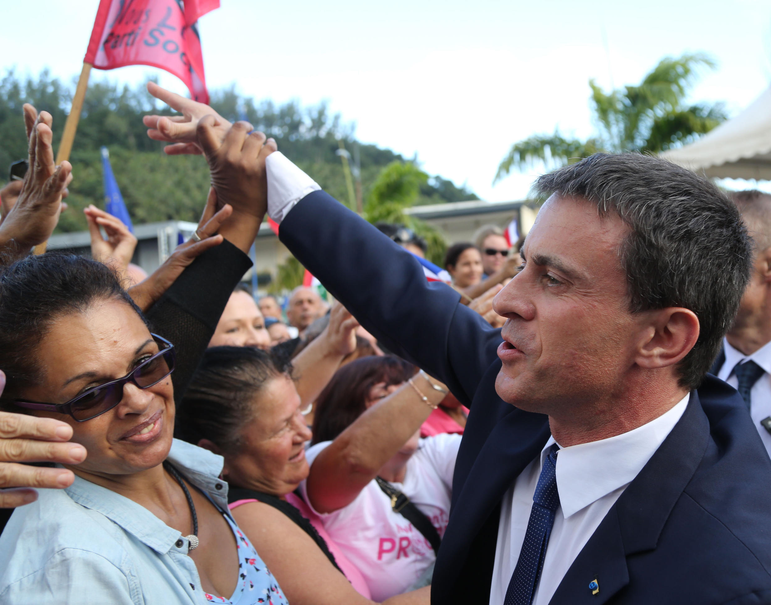 French Prime Minister Manuel Valls in Mayotte on Saturday