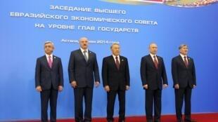 Президенты Армении, Беларуси, Казахстана, России и Киргизии на форуме ЕврАзЭС в Астане 29/05/2014