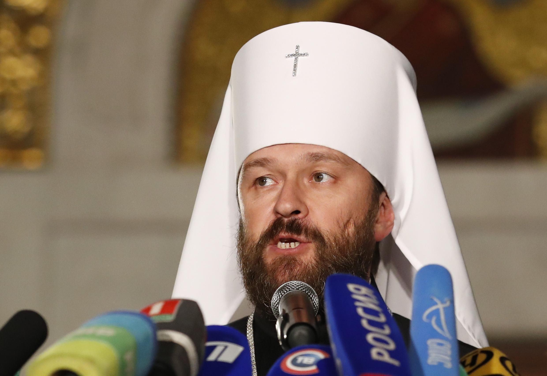 Глава отдела внешних церковных связей Московского патриархата митрополит Илларион в Минске 15 октября 2018