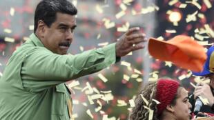 Cerrando su campaña en Caracas el 17 de mayo de 2018.