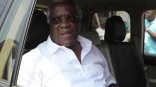 O antigo Presidente Manuel Pinto da Costa, porta-voz do Conselho de Estado
