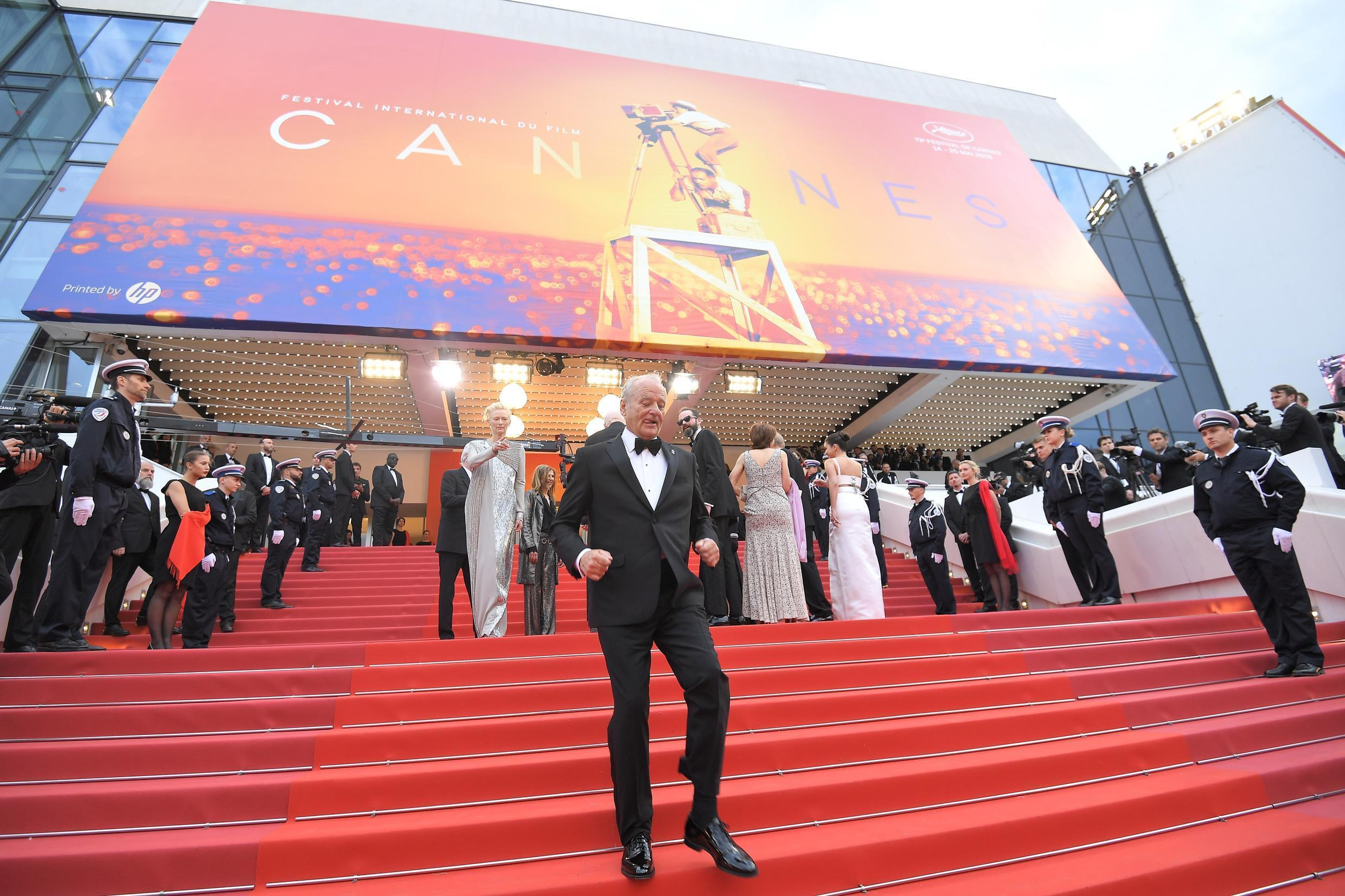 """US actor Bill Murray at the 2019 edition of the Cannes Film Festival, which will contribute entries to """"We Are One: A Global Film Festival"""""""