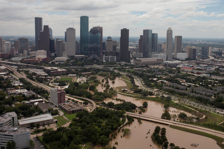 Небоскребы Хьюстона, штат Техас, 30 августа 2017.