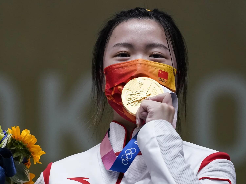 2021_07_24 first olympic gold china Qian Yang