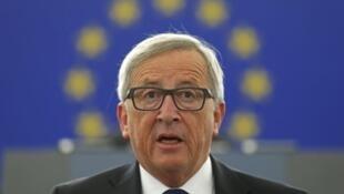 El presidente de la Comisión  Europea Jean-Claude Juncker, el 9 de septiembre de 2015  en Estrasburgo.