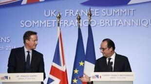 Francois Hollande and David Cameron in Amiens for 34th Franco-British summit