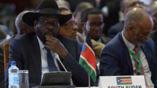 Rais wa Sudan Kusini Salva Kiir katika Mkutano wa Igad Machi 25, 2017 Nairobi.