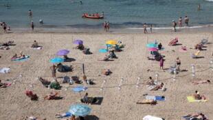 Bãi biển Levante tại vùng Benidorm, Tây Ban Nha. Ảnh tháng 6/2021.