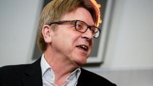 Guy Verhofstadt au Parlement européen à Bruxelles, le 18 février 2020.