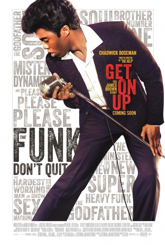"""Cartaz do filme """"Get on Up"""", sobre James Brown, produzido por Mick Jagger."""