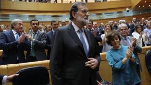 """""""Vim a esta câmara para pedir seu apoio"""", declarou o primeiro-ministro espanhol, Mariano Rajoy, na abertura da sessão plenária do Senado espanhol destinada a aprovar a intervenção da autonomia catalã nesta sexta-feira (27)."""