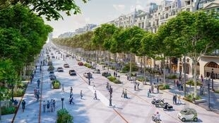 The world's most famous avenue, the Champs-Elysées, is set to become greener and more pedestrian-friendly.