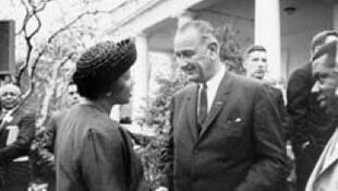Amelia Boynton Robinson meets US President Lyndon Johnson in 1965