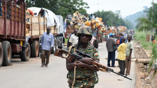 La force africaine Misca a évacué les musulmans du quartier PK12 à Bangui, le 27 avril 2014.