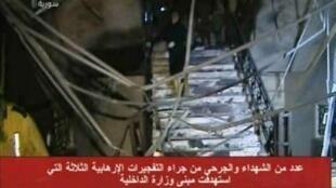Al-Nosra a revendiqué sur Twitter, jeudi 13 décembre, l'attentat perpétré la veille à Damas, devant le ministère de l'Intérieur.