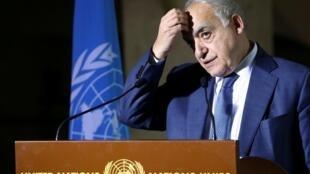 L'ancien envoyé spécial de l'ONU pour la Libye, Ghassan Salamé, à Genève le 6 février 2020.