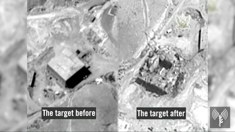 Объект Аль-Кибар 5 и 6 сентября 2007 года. Кадры, опубликованные 21 марта властями Израиля.