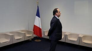 法國總統奧朗德在巴黎氣候會上