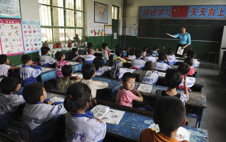 Một lớp tiểu học của người Duy Ngô Nhĩ tại Tân Cương, Trung Quốc ( Ảnh chụp ngày 31/5/2012).