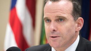 Brett McGurk, ancien émissaire pour la coalition internationale anti-jihadiste lors de la Conférence des Chefs d'État-Major des armées, le 24 octobre 2017.