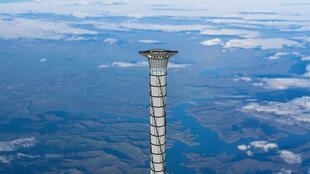 Le « space elevator » devrait ressembler à cette tour une fois construit.