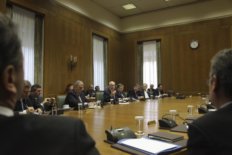 Заседение кабинета министров Греции