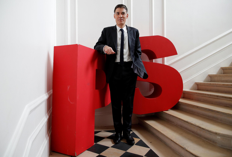 Olivier Faure, elegido Primer Secretario del Partido Socialista francés, en el palacio de Solferino, el cuartel general del PS en París.