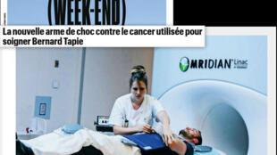 O MRIdian é uma nova arma na luta contra o câncer, diz a reportagem da revista semanal Aujourd'hui en France (Week-end).