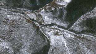 Một địa điểm nghi ngờ thử nghiệm hạt nhân tại tỉnh Hamgyong của Bắc Triều Tiên. Ảnh chụp từ vệ tinh của Google ngày 29/01/2013.
