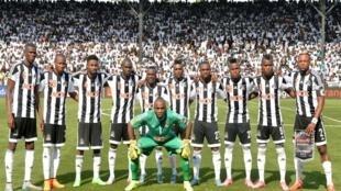 Le TP Mazembe lors du match retour face à l'USM Alger en finale de la Ligue des Champions, le 8 novembre 2015.