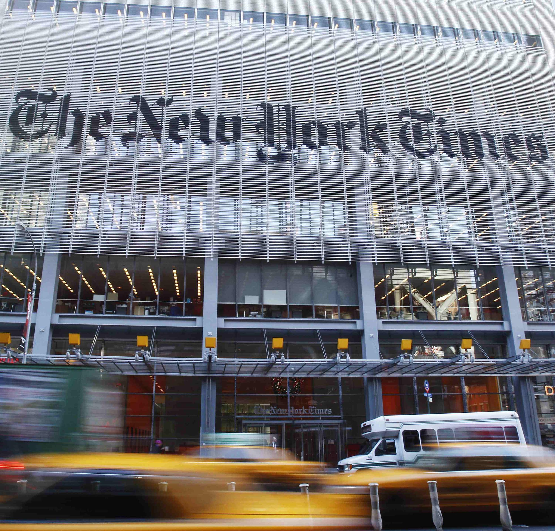 《纽约时报》美国总部大楼。