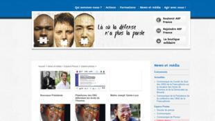 Avocats sans frontières France (Capture d'écran).