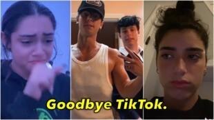 TikTok传出在美国可能被禁的消息后 一些美国少年纷纷发视频告别